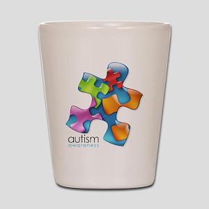 puzzle-v2-5colors Shot Glass