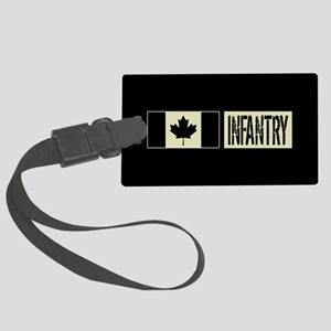Canadian Military: Infantry (Bla Large Luggage Tag