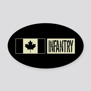 Canadian Military: Infantry (Black Oval Car Magnet
