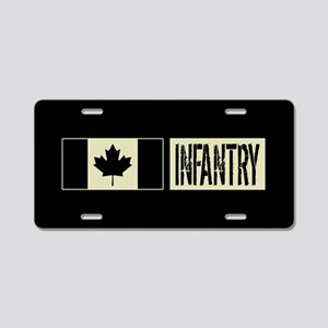 Canadian Military: Infantry Aluminum License Plate