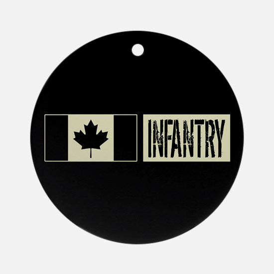 Canadian Military: Infantry (Black Round Ornament