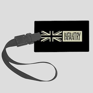 British Military: Infantry (Blac Large Luggage Tag