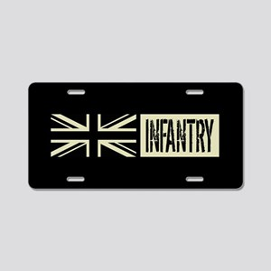 British Military: Infantry Aluminum License Plate