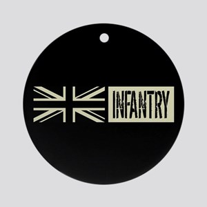 British Military: Infantry (Black F Round Ornament
