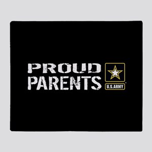 U.S. Army: Proud Parents (Black) Throw Blanket