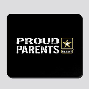 U.S. Army: Proud Parents (Black) Mousepad