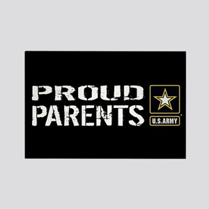 U.S. Army: Proud Parents (Black) Rectangle Magnet