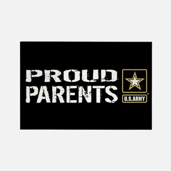 U.S. Army: Proud Parents (Black) Rectangle Magnet