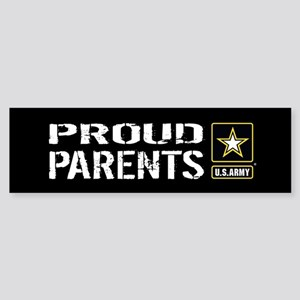 U.S. Army: Proud Parents (Black) Sticker (Bumper)