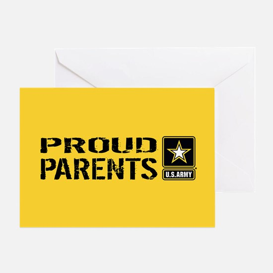 U.S. Army: Proud Parents (Gold) Greeting Card