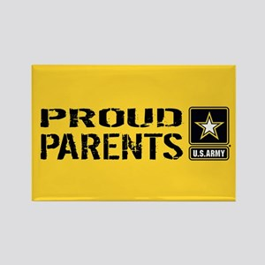 U.S. Army: Proud Parents (Gold) Rectangle Magnet
