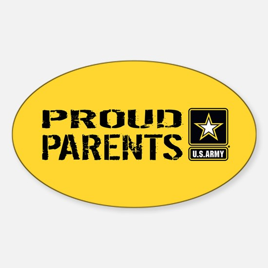 U.S. Army: Proud Parents (Gold) Sticker (Oval)