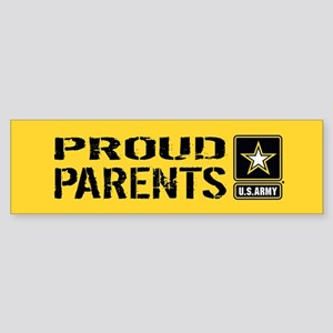 U.S. Army: Proud Parents (Gold) Sticker (Bumper)