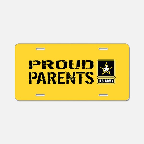 U.S. Army: Proud Parents (G Aluminum License Plate
