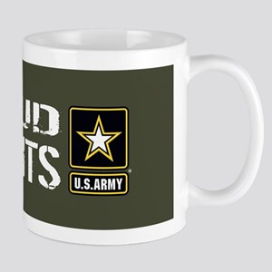 U.S. Army: Proud Parents (Military Gree Mug