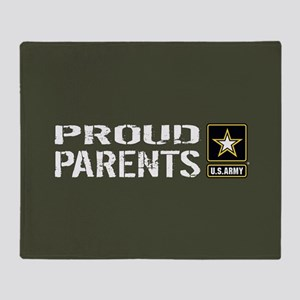 U.S. Army: Proud Parents (Military G Throw Blanket