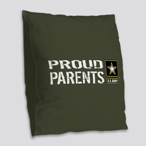 U.S. Army: Proud Parents (Mili Burlap Throw Pillow