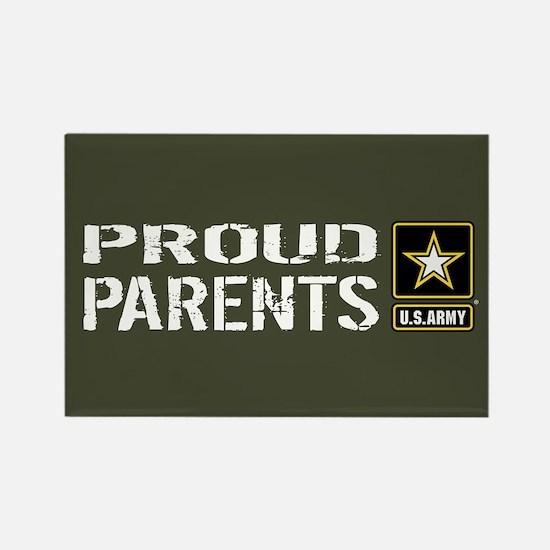 U.S. Army: Proud Parents (Militar Rectangle Magnet