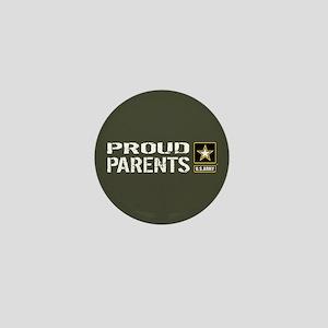 U.S. Army: Proud Parents (Military Gre Mini Button