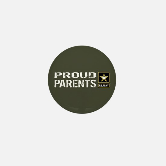 U.S. Army: Proud Parents (Military Gre Mini Button