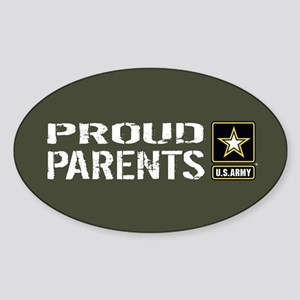 U.S. Army: Proud Parents (Military Sticker (Oval)