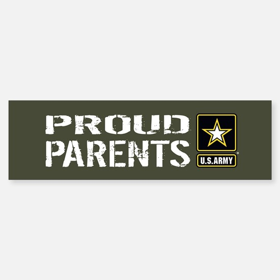 U.S. Army: Proud Parents (Militar Sticker (Bumper)