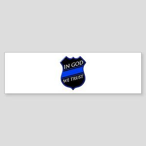 In God We Trust Blue Line Bumper Sticker