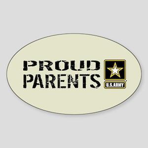 U.S. Army: Proud Parents (Sand) Sticker (Oval)