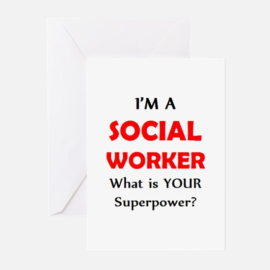 social worker Greeting Cards
