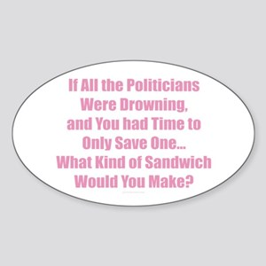 Politicians Sandwich Sticker