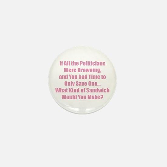 Politicians Sandwich Mini Button