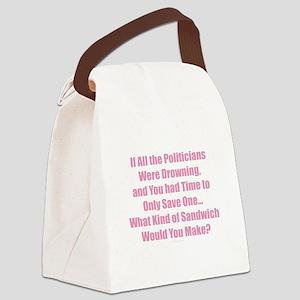 Politicians Sandwich Canvas Lunch Bag