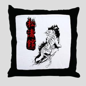 Shotokan Kanji Tiger Throw Pillow