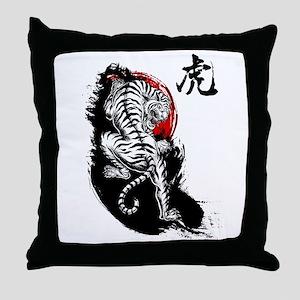 Japanese Tiger Throw Pillow