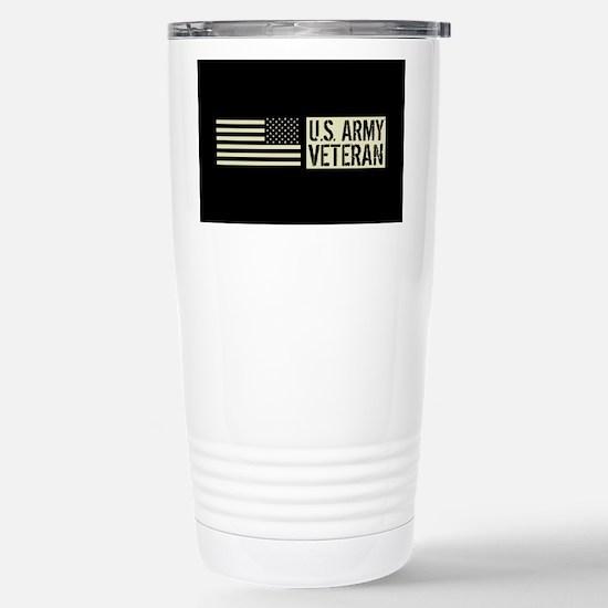 U.S. Army: Veteran (Bla Stainless Steel Travel Mug