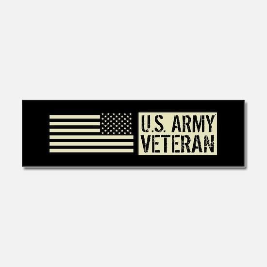 U.S. Army: Veteran (Black Flag) Car Magnet 10 x 3