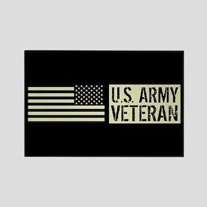 U.S. Army: Veteran (Black Flag) Rectangle Magnet