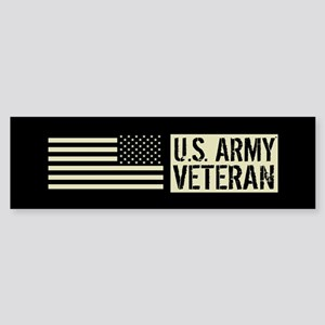 U.S. Army: Veteran (Black Flag) Sticker (Bumper)