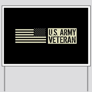 U.S. Army: Veteran (Black Flag) Yard Sign