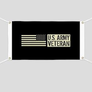 U.S. Army: Veteran (Black Flag) Banner