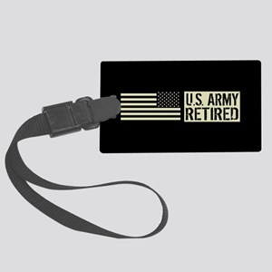 U.S. Army: Retired (Black Flag) Large Luggage Tag