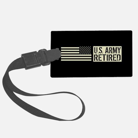 U.S. Army: Retired (Black Flag) Luggage Tag