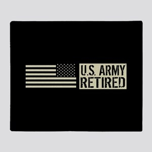 U.S. Army: Retired (Black Flag) Throw Blanket