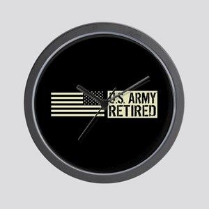 U.S. Army: Retired (Black Flag) Wall Clock