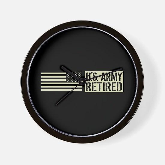 U.S. Army: Retired (Black Flag) Wall Clock
