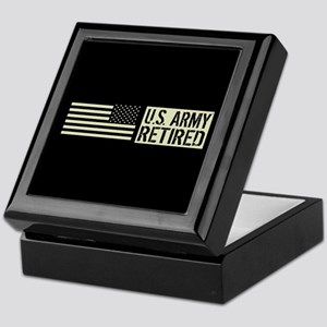 U.S. Army: Retired (Black Flag) Keepsake Box