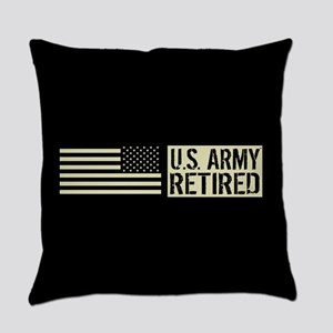 U.S. Army: Retired (Black Flag) Everyday Pillow