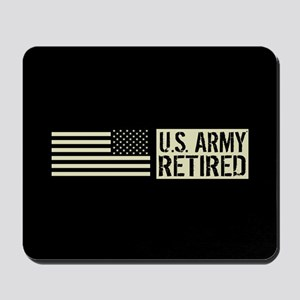 U.S. Army: Retired (Black Flag) Mousepad