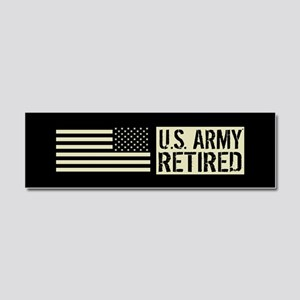 U.S. Army: Retired (Black Flag) Car Magnet 10 x 3
