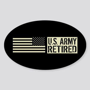 U.S. Army: Retired (Black Flag) Sticker (Oval)